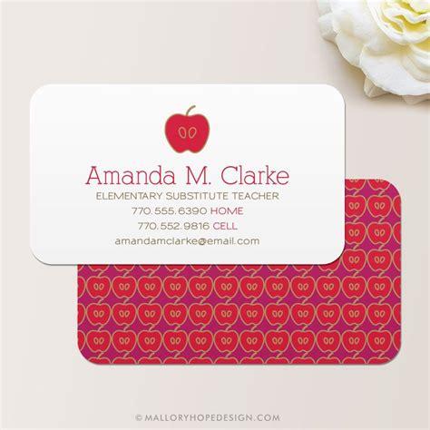 teacher business card calling card card contact