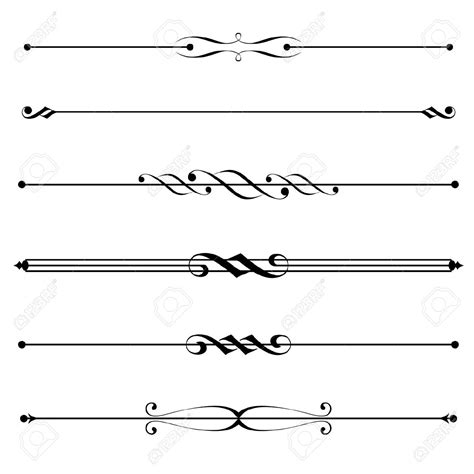 Decorative Line Borders by Fancy Line Dividers Clip 64