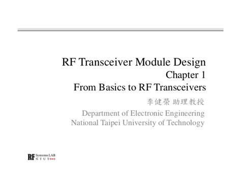 rf layout design basics rf modules by david morley