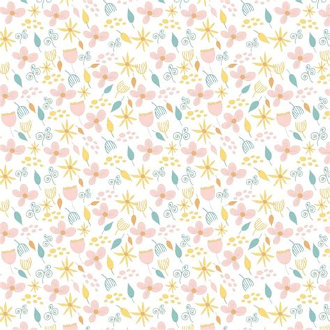 vintage pattern ai cute floral pattern in vintage style vector free download