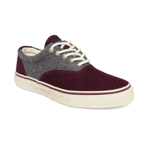 sperry top sider striper wool cvo slipon sneakers  purple  men lyst
