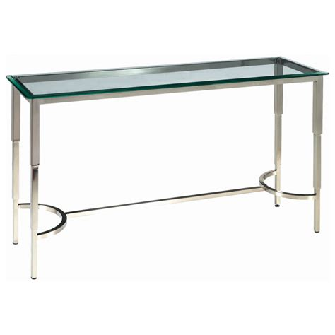 stainless steel sofa table sheila contemporary console table stainless steel glass