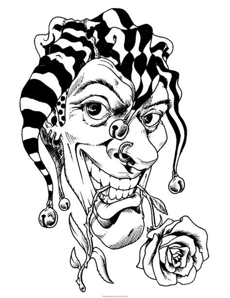 black and grey jester tattoos 40 best clown tattoo designs