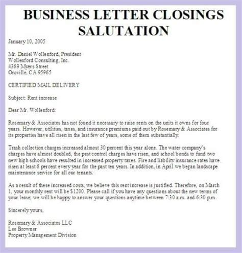 Business Letter Closing Exles closing salutation for business letter the best letter sle