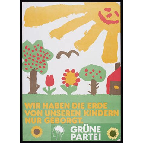 Werkstatt Poster by We Only Borrowed The Earth From Our Children Grafik