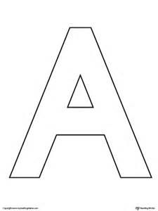 letter a template uppercase letter a color by letter worksheet