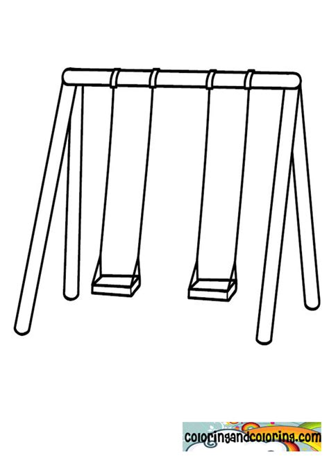 swing color free columpios para colorear coloring pages