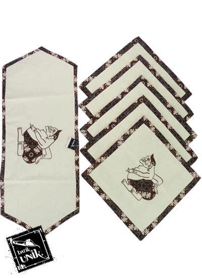 Kaos Kursi Murah sarung bantal kursi batik blaco motif semar bordir set