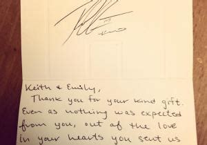 thank you letter after wedding gift rg3 sends wedding thank you to fan ny daily news