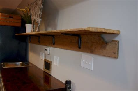 how to make a unique barn wood shelf diy newlywoodwards