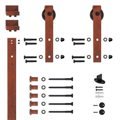 Barn Door Hardware Kit 78 75 In Matte Black Bent Barn Door Hardware Bd102k 07800 Mb Nl The Home Depot
