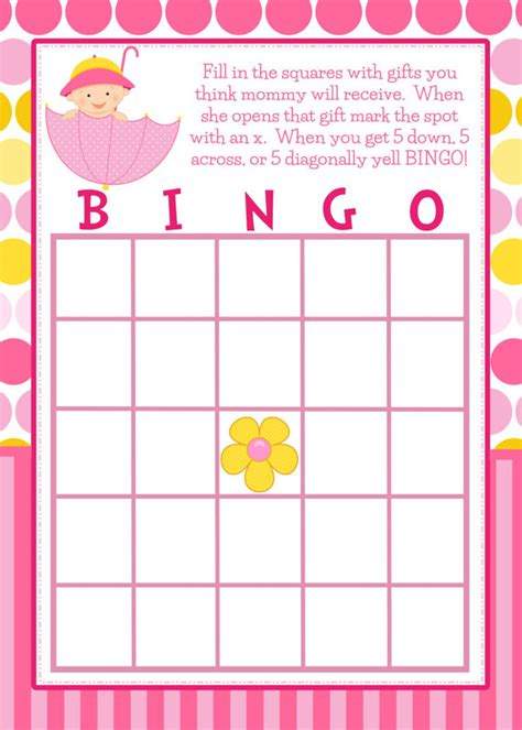 templates for baby shower bingo custom card template 187 free printable blank bingo cards