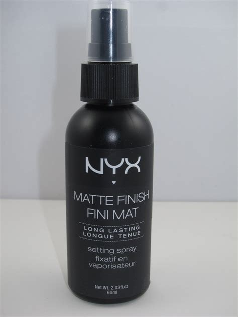 Nyx Finish Matte nyx matte finish lasting setting spray review