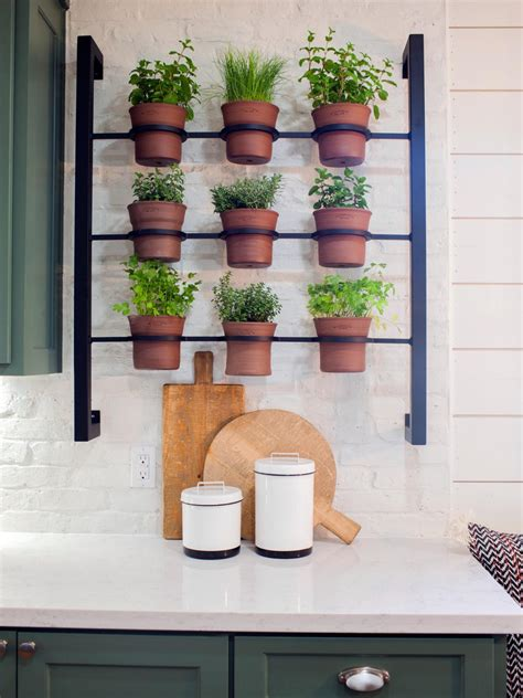 Wall Mounted Herb Planter by Container Gardening Ideas From Joanna Gaines Hgtv S