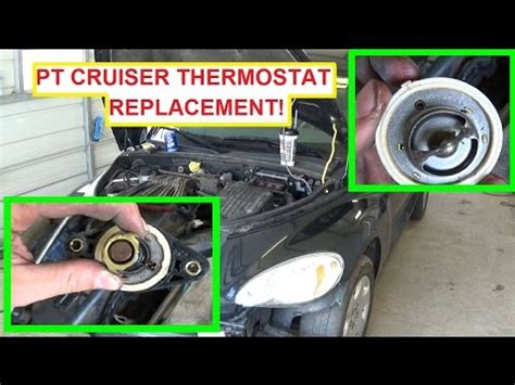 chrysler pt cruiser thermostat removal and replacement! 2