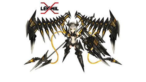 Mecha Blade Chain Blade No3 mecha girl render by leymil d5zp1qw png