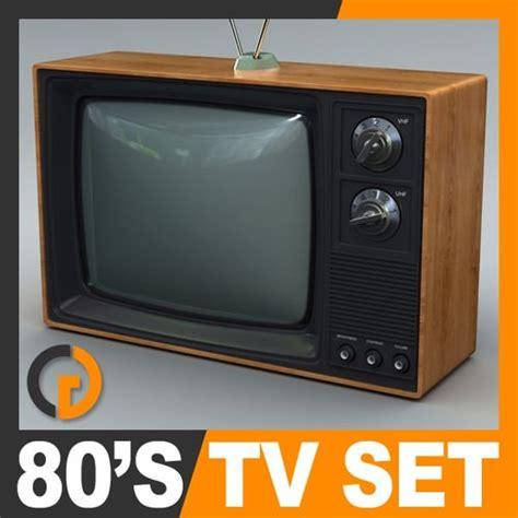 amusing 80 retro small kitchen appliances inspiration of retro style 80 s television set 3d model max obj 3ds