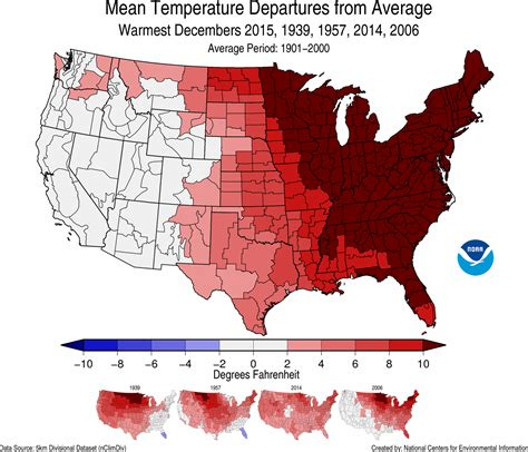 us weather map for december national climate report annual 2015 warmest decembers
