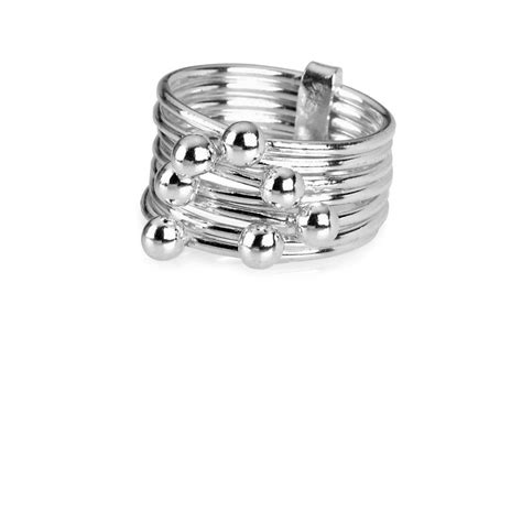 tianguis jackson sterling silver multi band ring womens