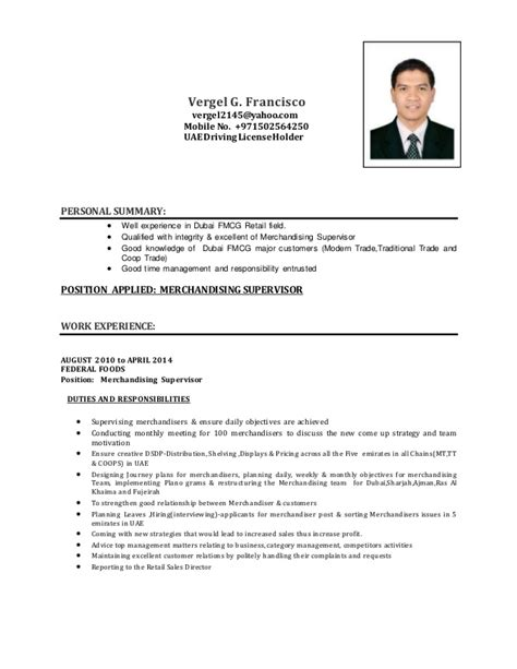 Free Sle Resume For Visual Merchandiser Sle Resume For Merchandiser Description 28 Images Visual Merchandiser Resume Sles Visualcv