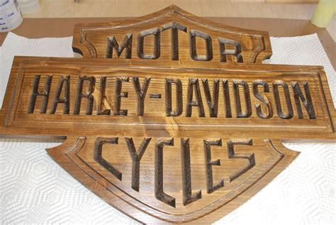 woodworking sign harley davidson glow sign diy