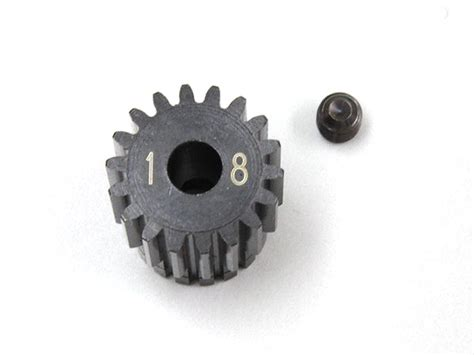 3racing Pinion Gear 48 Pitch 18t steel pinion gear 18t 1 48