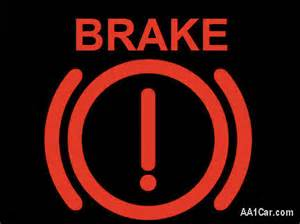 Brake System Warning Light In Emergency Parking Symbol