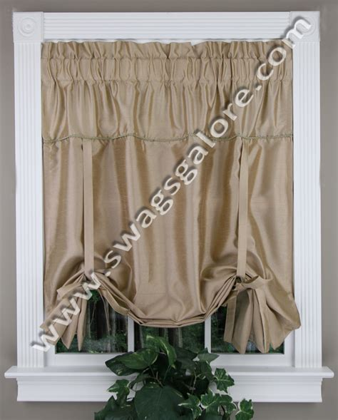 tie up valance taupe united kitchen valances