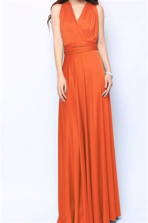 maxi infinity dress orange maxi infinity dress bridesmaid dresses lg 45