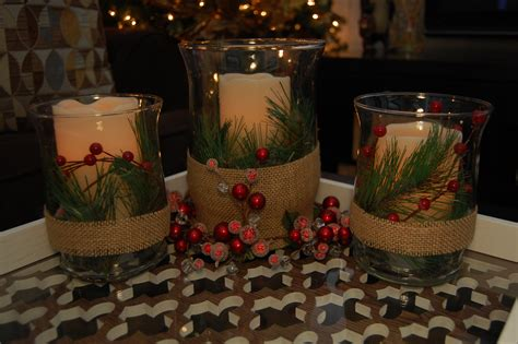 candle centerpieces for home beautiful white glass simple design christmas table