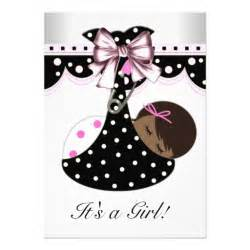 black and pink baby shower 5 quot x 7 quot invitation card zazzle