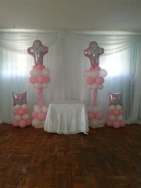 Baptismal Balloon Decor by 17 Best Images About Balloon Christening Communions