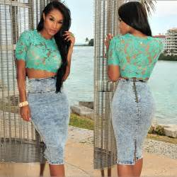 Blouse Lace Black Blue Green Atasan Renda Size S Xl womens hollow out sleeve lace crop top shirt