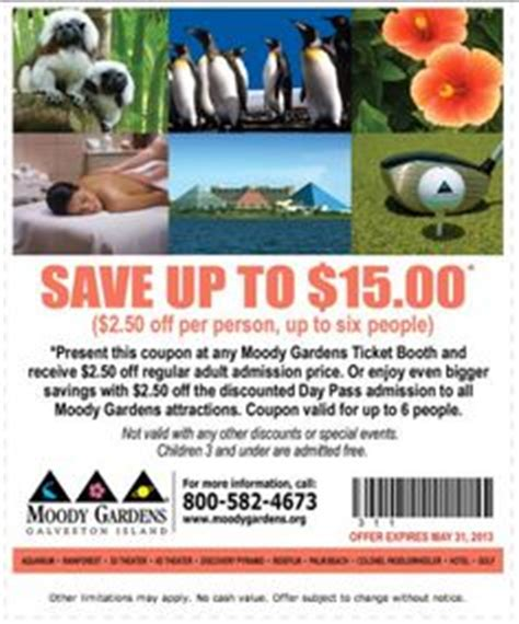 Moody Gardens Discounts 1000 images about coupons discounts and deals on