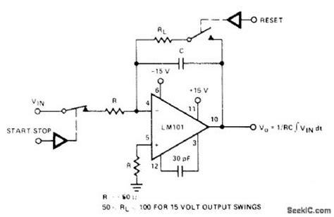 integrator circuit with reset index 821 circuit diagram seekic