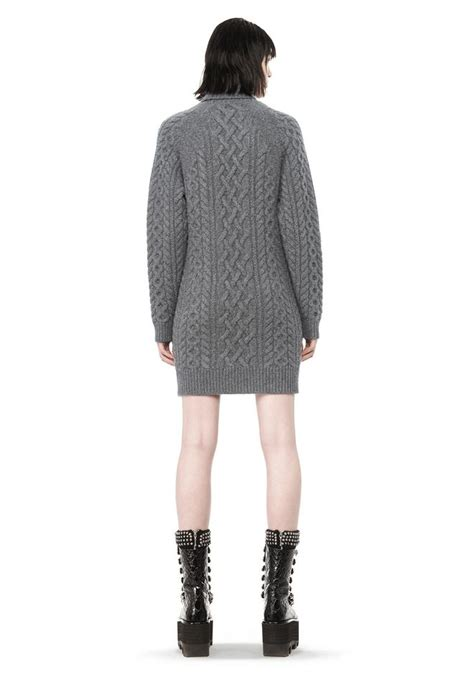 Turtleneck Cable Knit Dress wang cable knit turtleneck dress knit dress