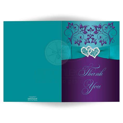 Turquoise Kitchen Decor Ideas wedding thank you card purple aqua bllue white floral