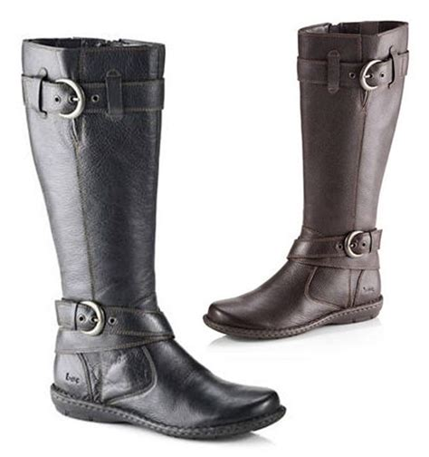 b boots born b o c leather style boots in black or brown