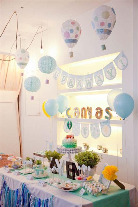 balloon themed birthday party hot air balloon themed birthday party via kara s party