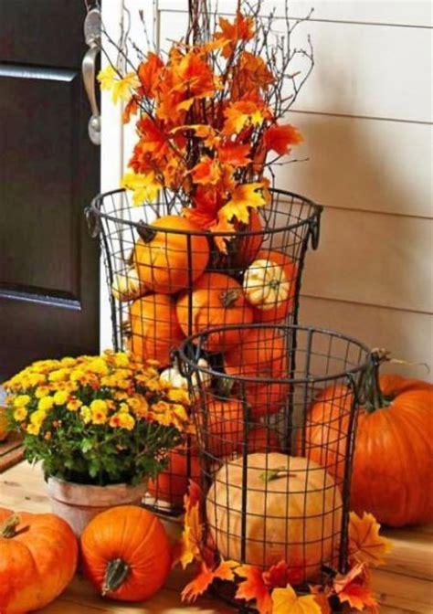 pumpkin displays fall decorating 57 cozy thanksgiving porch d 233 cor ideas digsdigs