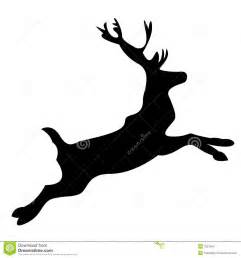 Reindeer Silhouette Outline by Reindeer Silhouette Stock Images Image 7057054