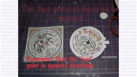 rotating wheel card template dissolving circle mpg
