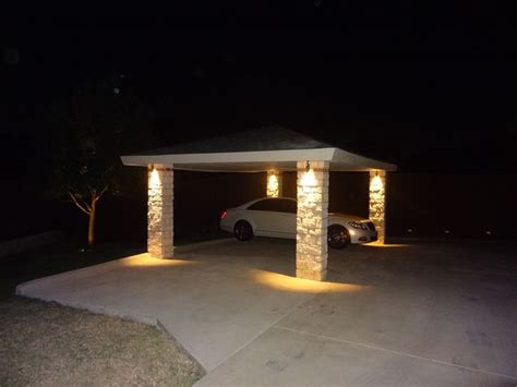 Entryways Carport Led Lighting Arriving Home At Night One Of Nite