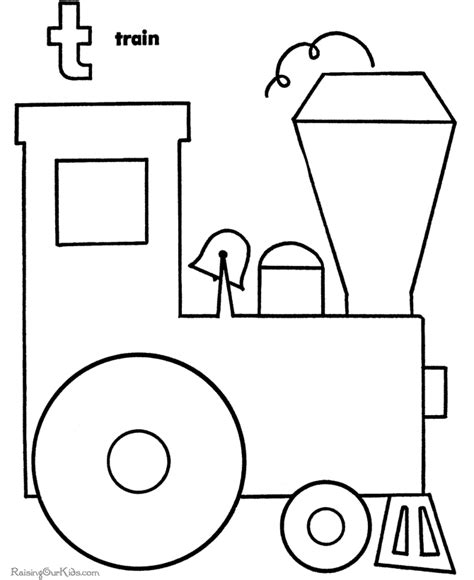 coloring pages of trains for preschoolers preschool train page to color 003