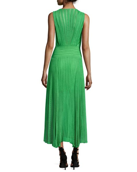 V Neck Sleeveless Knit Midi Dress roberto cavalli sleeveless v neck midi dress in green lyst