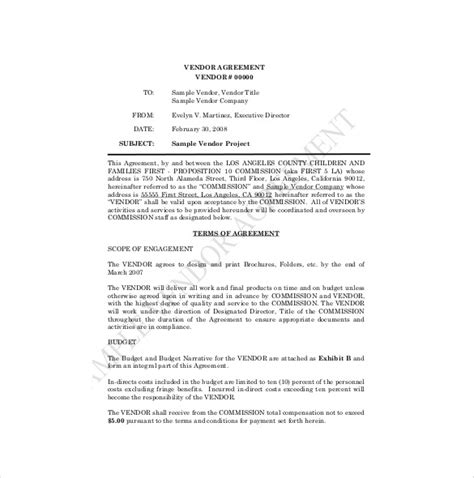 Vendor Agreement Template 18 Free Word Pdf Documents Download Free Premium Templates Vendor Contract Template