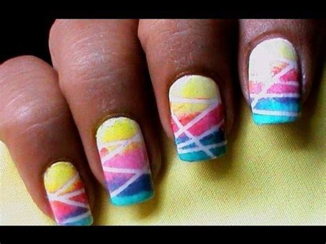 easy nail art with sponge nail art designs with sponge youtube