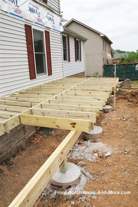 foundation for homes porch foundations porch repairs porch footing