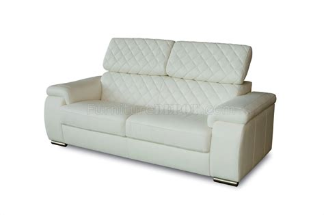 White Bonded Leather Sofa by White Bonded Leather Modern Coco Sofa W Optional Loveseat