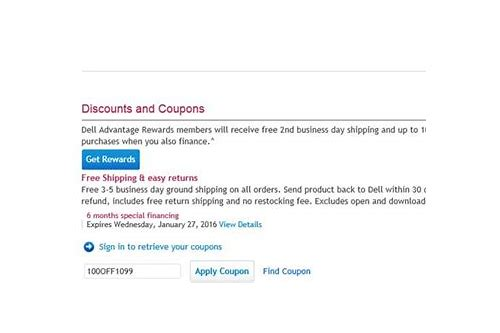 dell outlet venue coupon
